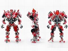 DIY 3D metal transformer robot model puzzle blocks intelligent
