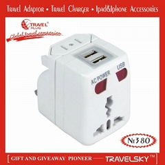 2012 Top Quality travel accessories / US/UK/AUS/EU travel Plugs adapter /(NT380)