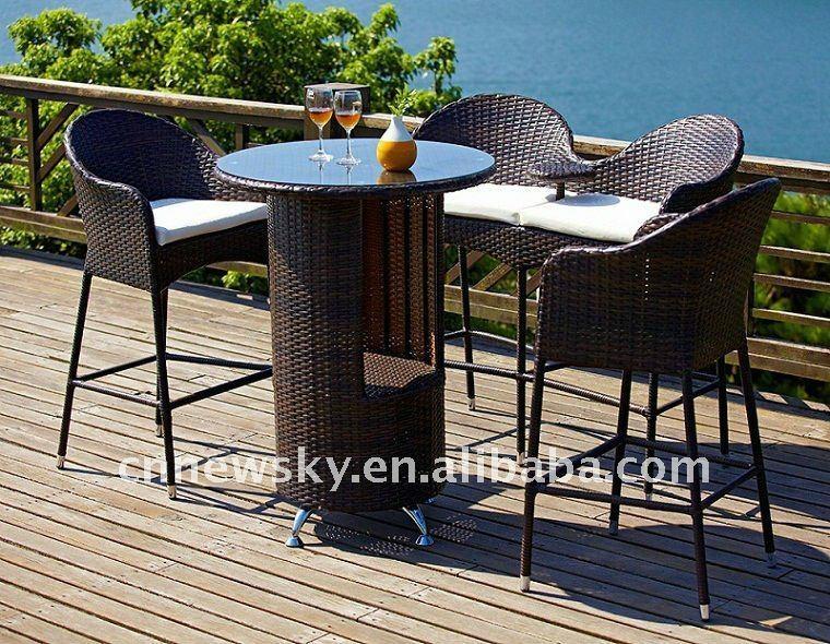 outdoor rattan bar sets photo 13