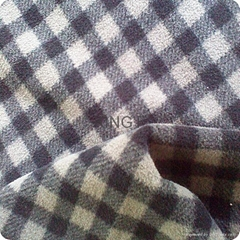 75D/144F DTY antipilling polar fleece with check print