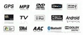 7inch 1DIN Universal  car dvd player navigation system 4