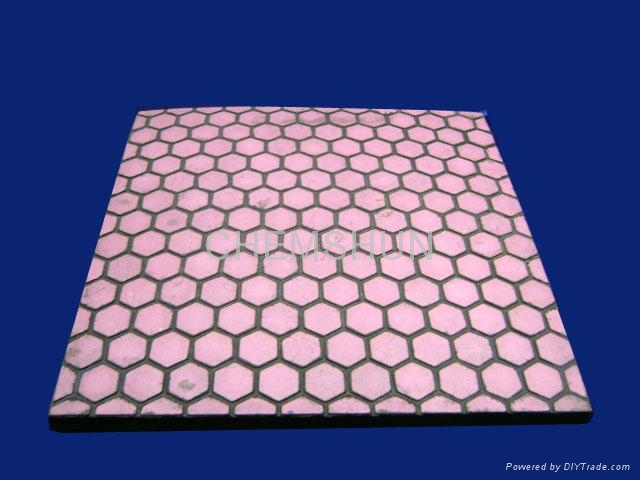 Wear Resistance Alumina Tile Combine with Rubber 1