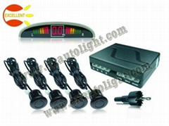 12V 4 Sensor Small Crescent LED Display Parking Sensors for car safe system