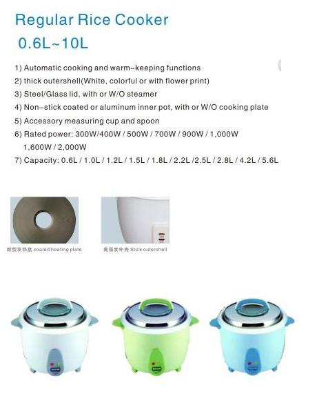drum rice cooker, 0.6L/300W 3
