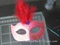 彩色羽毛面具