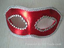 PU皮革花邊面具