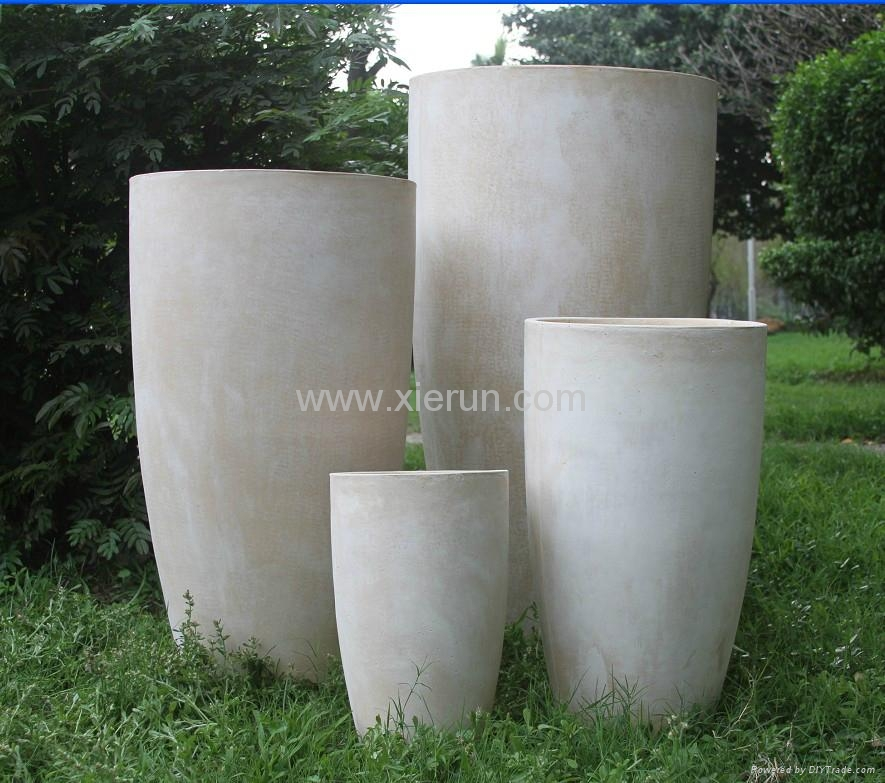 Beautiful ... Tall Round Large Garden Planter 4 ...