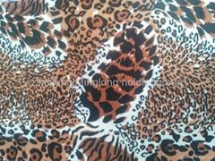 100% polyester Animal printed velboa