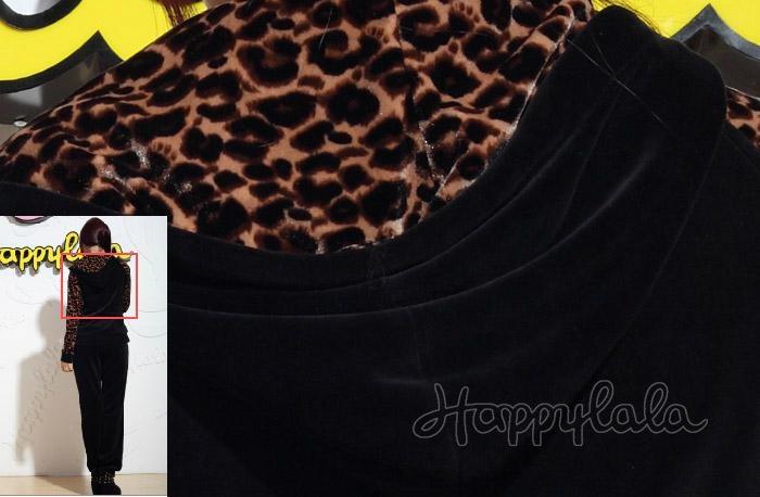 Leopard Zip Up Velour Tracksuit - YA-A019 - HappyLaLa (China ... 7ff3096cf