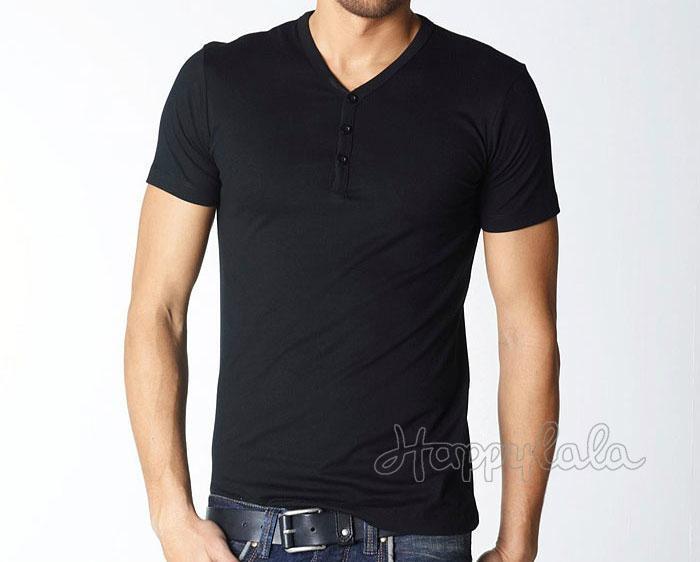 Short Sleeve V Neck Design Custom Shirt 3