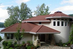 Stone coated metal roof tile- classical 7 waves