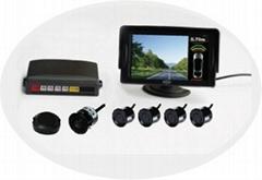 Visual car parking sensor system