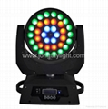 36pcs 10W 4in1 LED Wash Zoom Moving Head with 3 Virtual Color Wheel