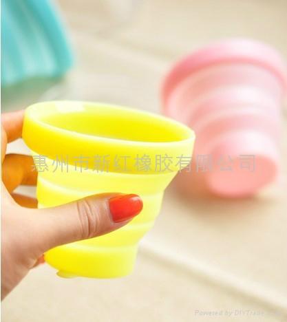 环保硅胶旅行可折叠水杯 1