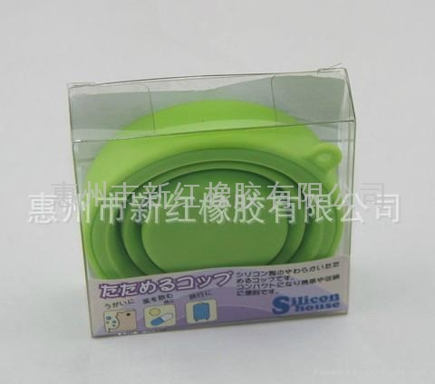 环保硅胶旅行可折叠水杯 5