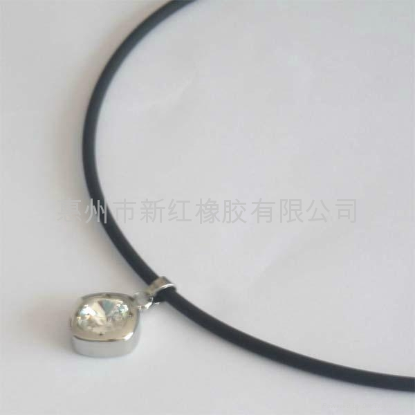 硅胶水晶吊坠项链 1