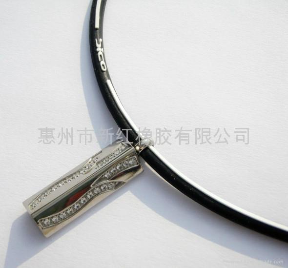 硅胶水晶吊坠项链 5