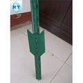 ga  anized/pvc coated metal fence post