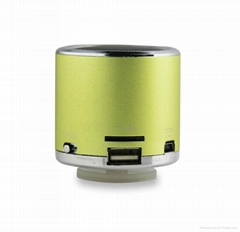 Cylinder Stereo Portable Speaker for MP4 Player