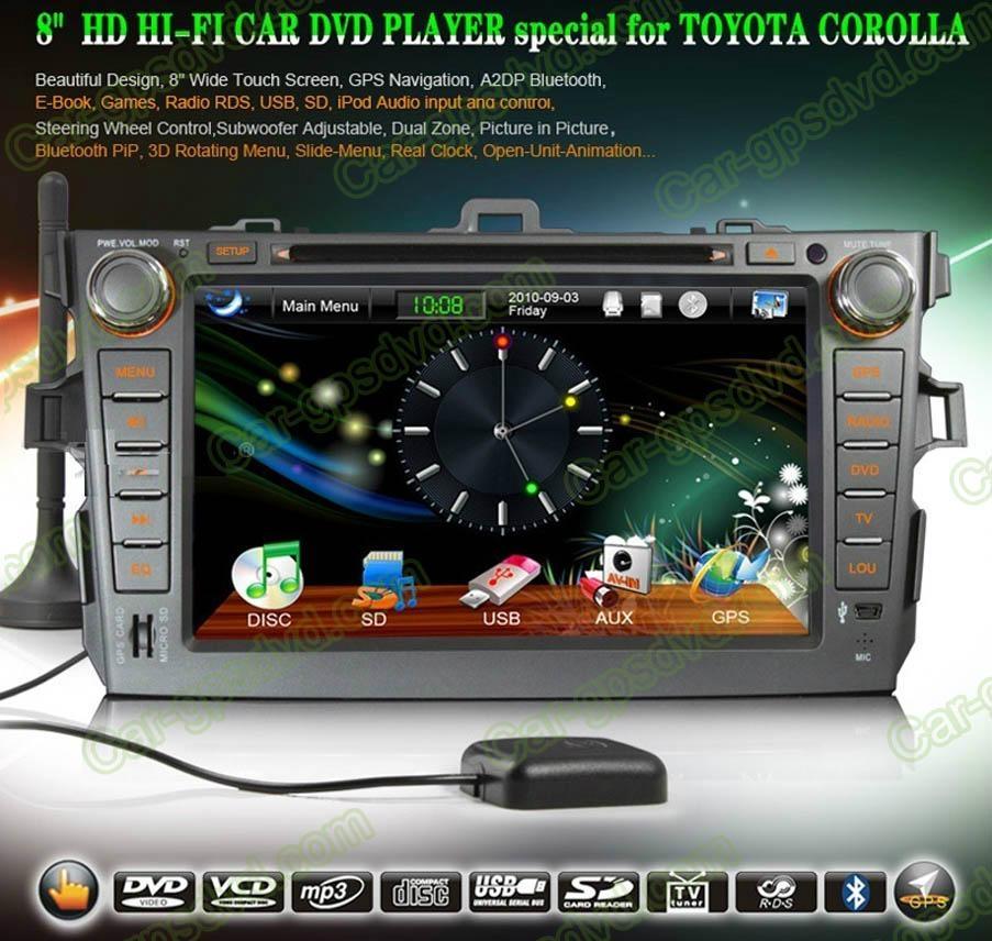 Car DVD GPS Navigation player for Toyota Corolla 2007- 2012 car 1