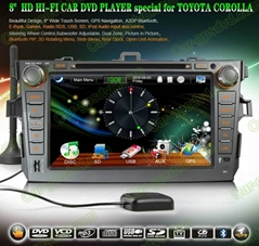 Car DVD GPS Navigation player for Toyota Corolla 2007- 2012 car
