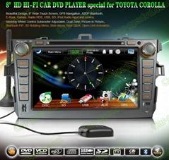 Car DVD GPS Navigation player for Toyota Corolla 2007- 2012 car