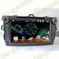 Car DVD GPS Navigation player for Toyota Corolla 2007- 2012 car 2