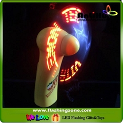 Flashing LED Message Fan with Your AD,handy message fan