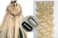 High quality 100% human hair Quad Weft Clip In Hair Extension