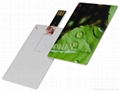Slim credit card usb flash drive with