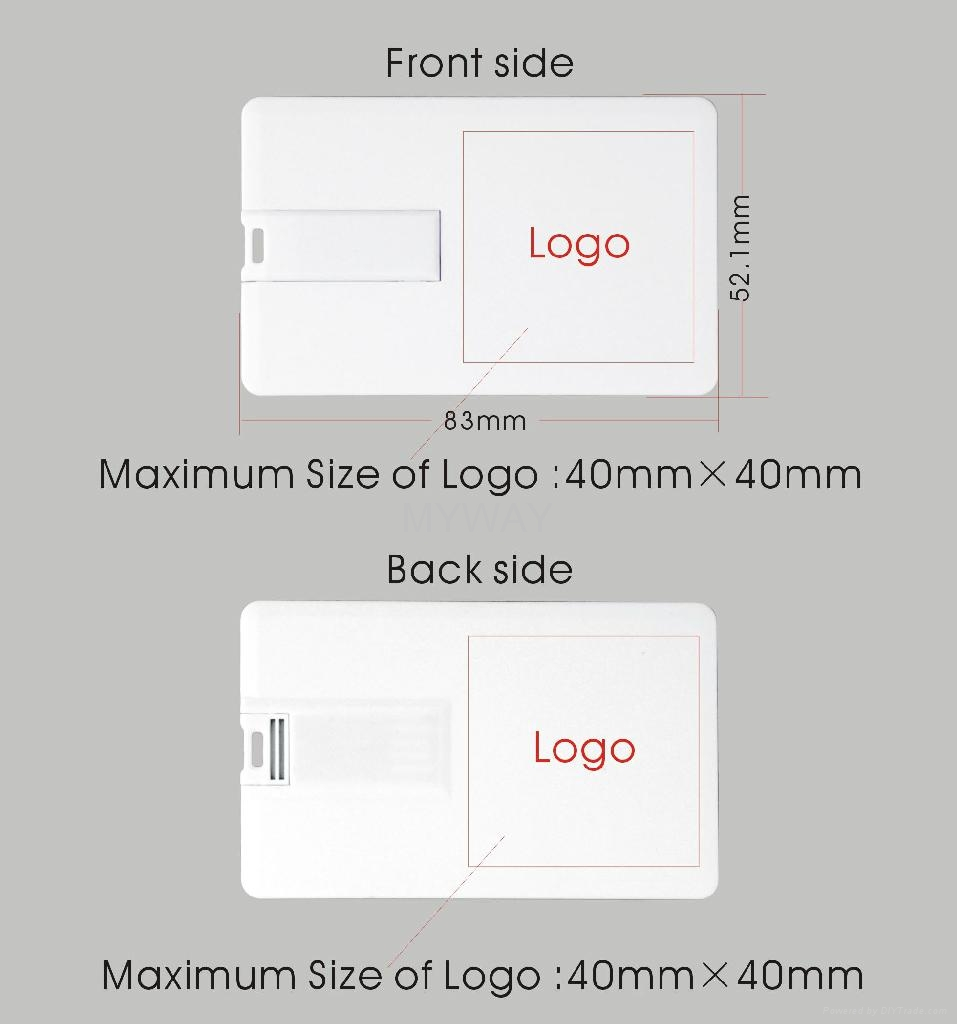 Slim credit card usb flash drive with full color printing for Sd card label template