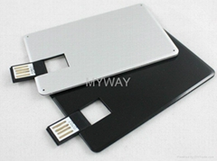 high quality metal card usb usb disk with engraved logo