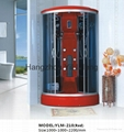 Fashionable Red ABS Complete Shower Room