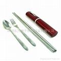 筆筒式便攜餐具
