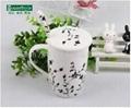 簡約相思樹系列骨瓷帶勺帶蓋咖啡杯 2
