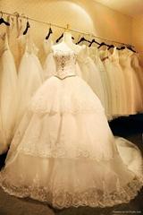 Embriodery Multi-layers Wedding Dress