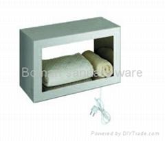 Electric heated towel warmer box