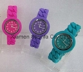 Fashion Colorful Silicone Twist Bracelet Watch (Hot Product - 1*)