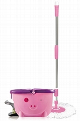 microfiber mop with cute bucket for cleaning