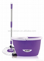 spin go mop with LOGO design in bucket