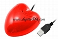Red Heart USB 3D Optical Mouse Mice for PC/Laptop