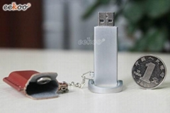 Leather cap strong USB flash drive with key chain