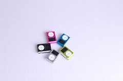 LED Screen Mini MP3 Player with clip MP3 support SD (TF) Card with retail box