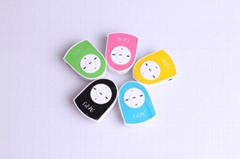 FreeShiping Mini Clip MP3 Player Shield shape Mini Music Players Support 5 Color