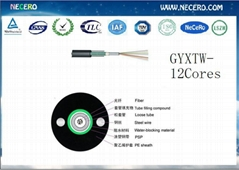 GYXTW-2-4-6-8-10-12 Cores armored optical fiber cable