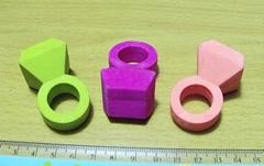 3d finger ring eraser