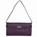 Hermes Kelly 26CM Shoulder Bag Clemence Purple