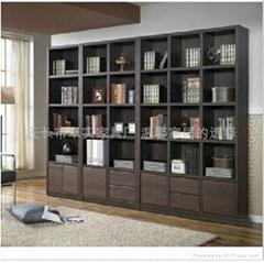 韓式超大加厚板材自由組合書櫃
