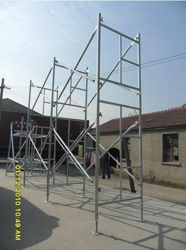 Steel Ladder Frame Scaffolding (flip lock, OD42.7mm) 1