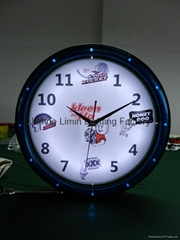 LED Wall Clock with Plastic Frame